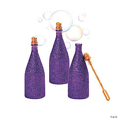 Purple Glitter Bubble Bottles