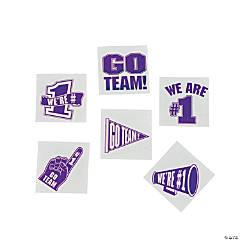 Purple Go Team Tattoos