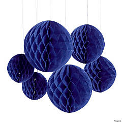 Purple Hanging Honeycomb Decorations