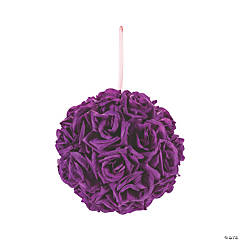 Purple Kissing Ball
