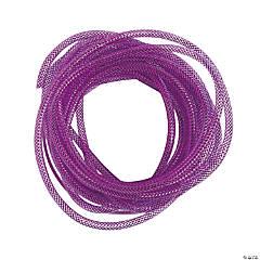Purple Mesh Tube Ribbon
