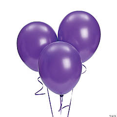 "Purple Metallic 11"" Latex Balloons"