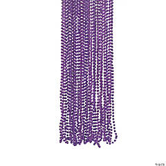 Purple Metallic Beaded Necklaces