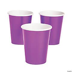 Purple Metallic Paper Cups
