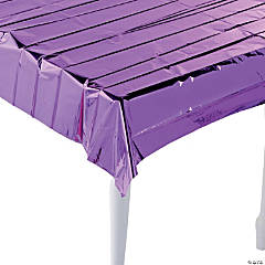 Purple Metallic Tablecloth