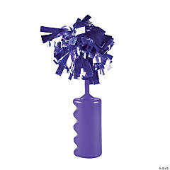 Purple Noisemaker Rattles with Pom
