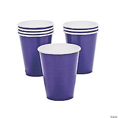 Purple Paper Cups - 24 Pc.
