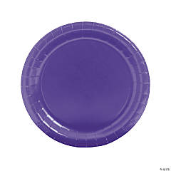 Purple Paper Dinner Plates - 24 Ct.