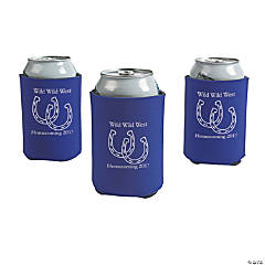 Purple Personalized Horseshoe Can Coolers
