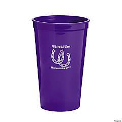 Purple Personalized Horseshoe Tumblers