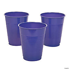 Purple Plastic Cups - 20 Ct.
