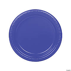 Purple Plastic Dinner Plates - 20 Ct.