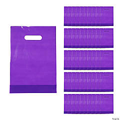 Purple Plastic Goody Bags