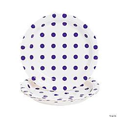 Purple Polka Dot Dessert Plates - 8 Ct.