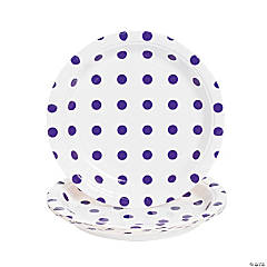Purple Polka Dot Dessert Plates