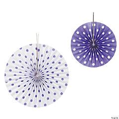 Purple Polka Dot Hanging Fans