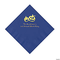 Purple Pumpkin Personalized Napkins with Gold Foil – Luncheon