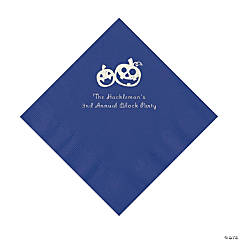 Purple Pumpkin Personalized Napkins with Silver Foil – Luncheon