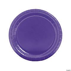 Purple Round Paper Dinner Plates