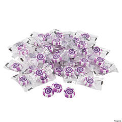 Purple Striped Hard Candy Discs
