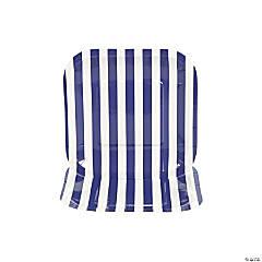 Purple Striped Square Dessert Plates - 8 Ct.