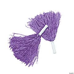 Purple Team Spirit Cheer Pom-Poms - 12 Pc.
