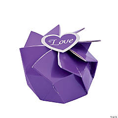 Purple Wedding Blossom Boxes