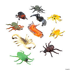 Pvc Insects, Bugs & Spiders - 10 pc