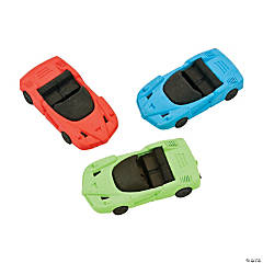 Race Car Erasers - 12 Pc.