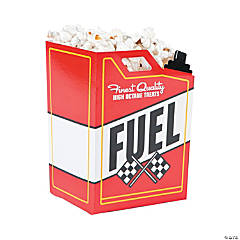 Race Car Fuel Can Popcorn Boxes