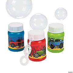 Race Car Mini Bubble Bottles