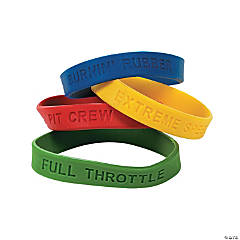 Race Car Rubber Bracelets