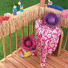 Raffia Table Skirt - Thatch