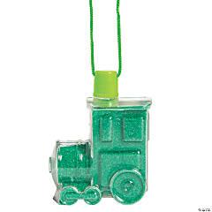 Railroad Sand Art Bottle Necklaces