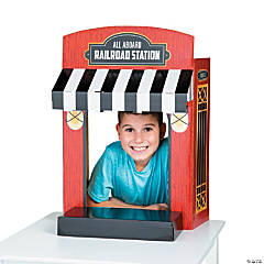 Railroad Ticket Booth Tabletop Photo Op Stand-Up