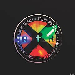 Railroad VBS Light-Up Sticker Badges