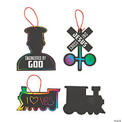 Railroad VBS Magic Color Scratch Ornaments