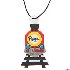 Railroad VBS Name Tag Necklace Craft Kit