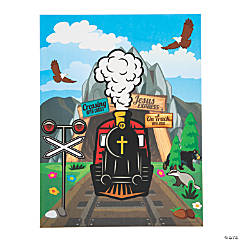 Railroad VBS Sticker Scenes