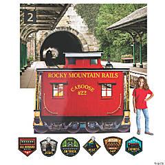Railroad VBS Train Station Small Scene Setter Kit