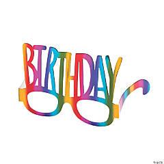 Rainbow Birthday Paper Glasses