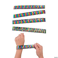 Rainbow Flipping Sequin Slap Bracelets