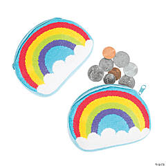 Rainbow Fur Coin Purses
