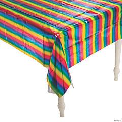 Rainbow Metallic Tablecloth