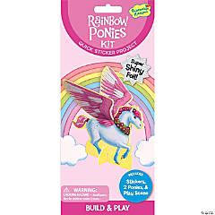 Peaceable Kingdom Glitter Rainbow Ponies Sticker Pack Mindware