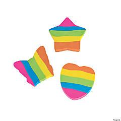 Rainbow Shapes Erasers