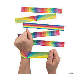 Rainbow Slap Bracelets