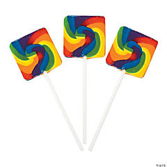 Rainbow Square Swirl Pops