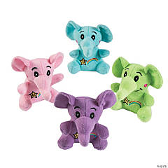 Rainbow Stuffed Elephants