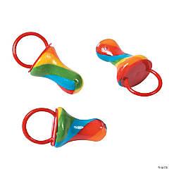 Rainbow Twist Pacifier Ring Suckers